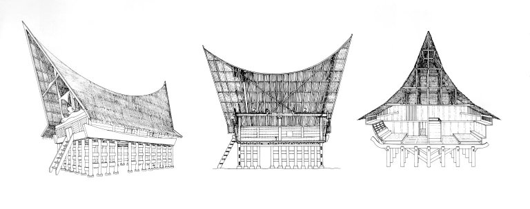 Houses on Lake Toba