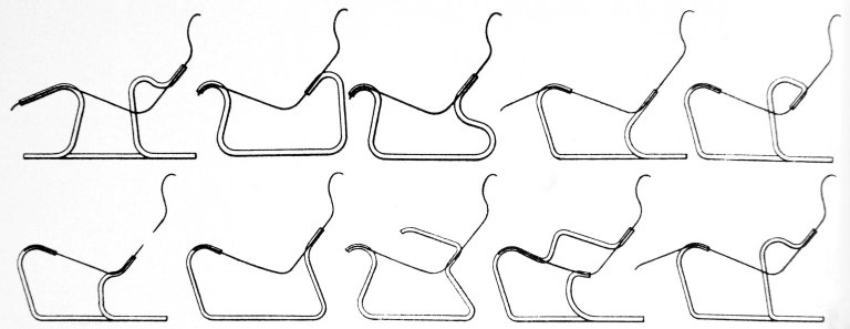 Patent Drawings for Variations on Isokon Lounge Chairs