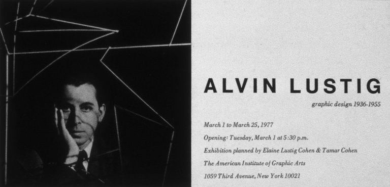 Card for Posthumous New York Exhibit, AIGA