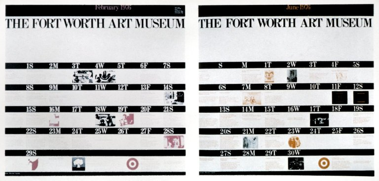 February 1976 and June 1976 Calendar from Fort Worth Art Museum