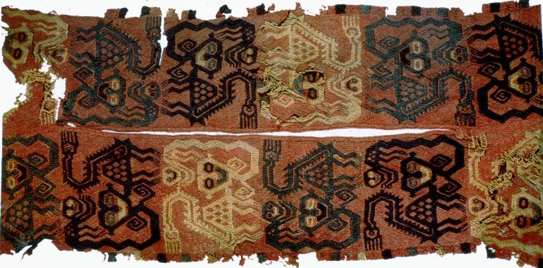 Fragment of Neck Border of Woolen Shirt