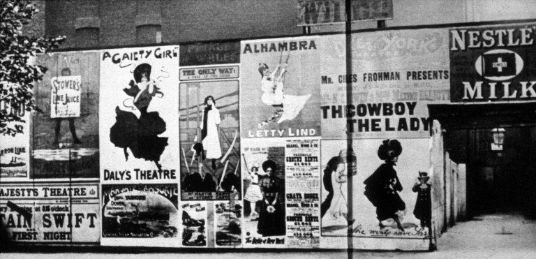 Posters along London Street