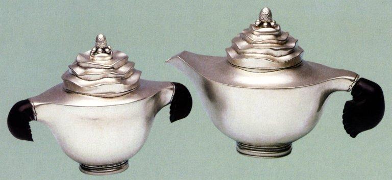 Tea Pot and Creamer