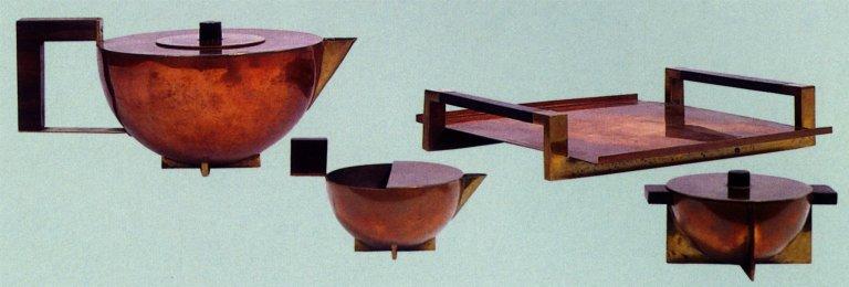 Copper and Brass Tea Service
