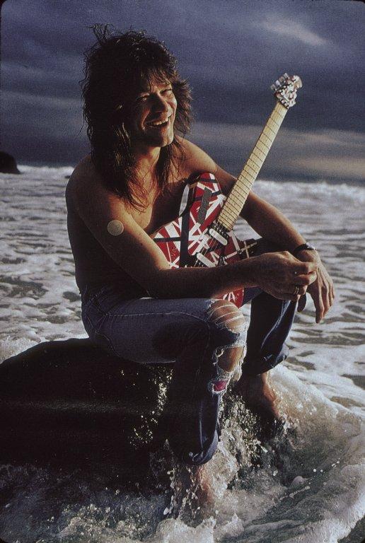 Eddie Van Halen in Torn Jeans