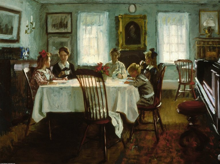 Gilchrist Family at Breakfast