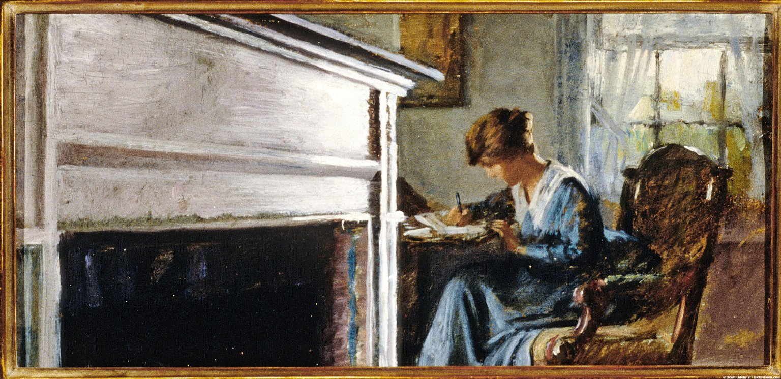 At Her Writing Desk